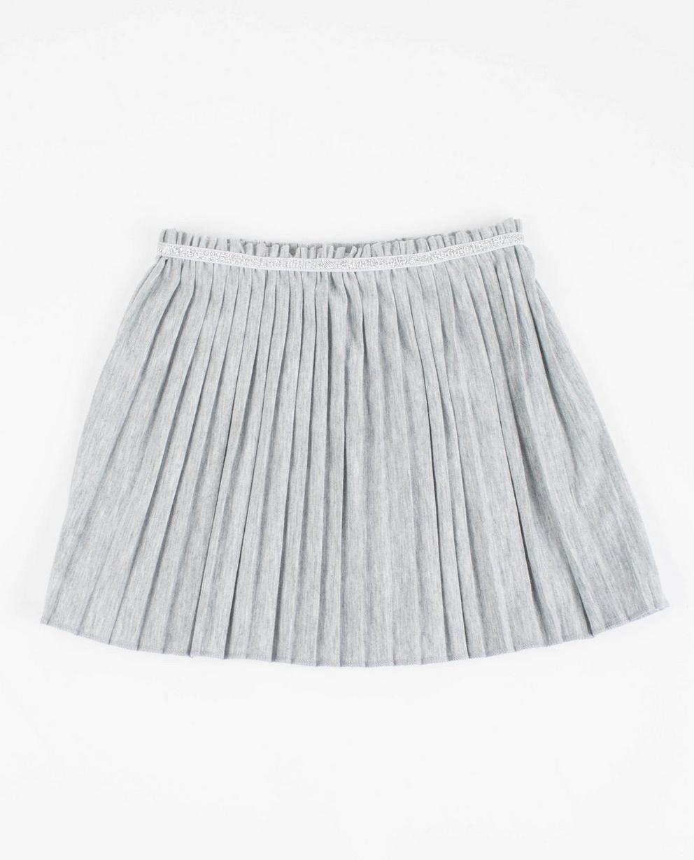 Jupe plissée à paillettes - grise - JBC